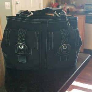 Coach black hobo bag